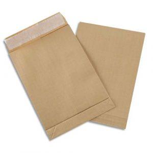 Gpv 4927 - Sac à soufflet Pack'n Post 229x324x30, 130 g/m², coloris brun - boîte de 250