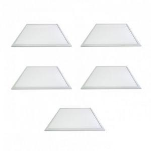 Vision-El LOT 5 x DALLE LED 38W (360W) ALU 600X600 BLANC JOUR 6000°K Plafonnier Eclairage LED