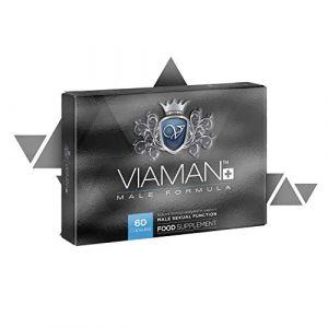 Viaman Plus | Boost performances sexuellesHommes - Augmente la virilité | Contient : L-Arginine, ginseng coréen, ginkgo biloba, maca et fenugrec | Pour Homme | 60 gélules