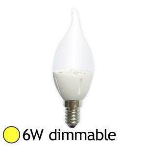 Vision-El Ampoule Led 6W (60W) dimmable E14 Flamme claire Blanc chaud -