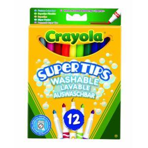 Crayola 12 feutres à dessiner lavables