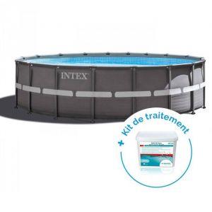 Intex Pack Piscine tubulaire Ultra Frame 5.49 x 1.32 m + Traitement piscines < 30 m³