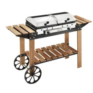 Ferraboli Ghisa Legno - Barbecue grill au gaz sur chariot