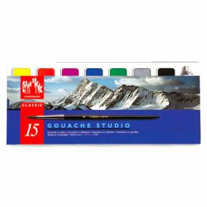 Caran d'Ache Coffret gouache Studio - 8 couleurs