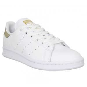 Adidas Stan Smith cuir Femme-37 1/3-Blanc Gold