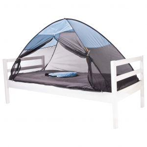Deryan Tente-lit escamotable avec moustiquaire 200x90x110 cm Bleu ciel