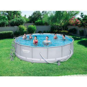 Bestway Power Steel Frame Pools - Kit piscine ronde 427 x 107cm