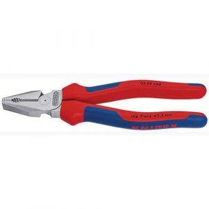 Knipex Pince universelle démultipliée, tête chromée, poignées à gaine en plastique, Long. : 200 mm
