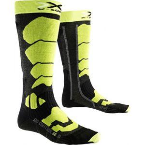 X-Socks Chaussettes de Ski pour Homme Control 2.0, Homme, Ski Control 2.0, Anthracite/Green Lime, 35/38