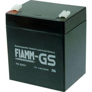 FIAMM Batterie au plomb 12 V 4.5 Ah PB-12-4,5-4,8 plomb (AGM) (l x h x p) 90 x 107 x 70 mm connecteur plat 4,8 mm sans e
