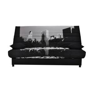 Housse couette clic clac et socle, 250g/m2 Imprimé New York Building Taille 120x190 cm