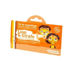 Namaki Kit de Maquillage 3 Couleurs - Lion et Girafe