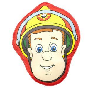 Character World Coussin peluche tête Sam le pompier (34 x 40 cm)