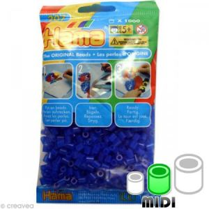 Hama Midi Sachet 1000 perles bleu n