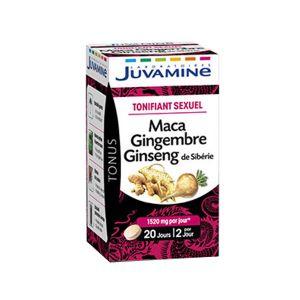 Juvamine Phyto Maca Ginseng Gingembre 40 comprimés