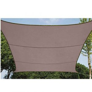 Werkapro Toile d'ombrage carrée Couleur Taupe 3,6x3,6m
