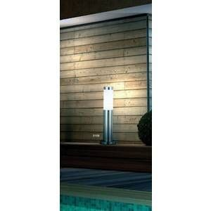 Globo Lighting Lampe d'extérieur Globo BOSTON Acier inoxydable, Blanc, 1 lumière Moderne/Design Extérieur BOSTON