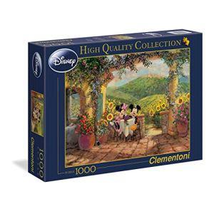 Clementoni Puzzle Minnie et Mickey déjeunent 1000 pièces