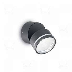 Ideal lux Spot extérieur led Omega Gris anthracite Aluminium 172552