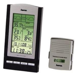 Hama EWS 800 - Station météo avec capteur, température intérieure et extérieure