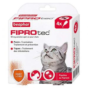 Beaphar Fiprotec chat 4 pipettes