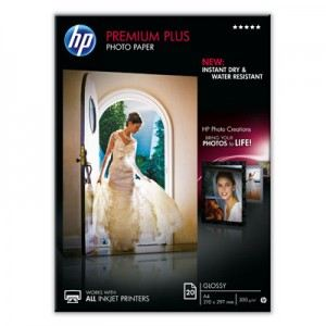 HP 20 feuilles papier photo brillant Premium Plus 300g/m² (A4)