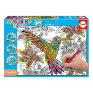 Educa Colibris - Puzzle 300 pièces à colorier