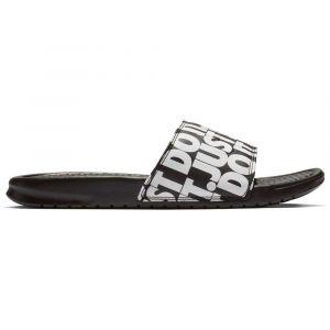 Nike Claquettes de bain Benassi « Just Do It » Print N ir / Blanc - Taille 42,5