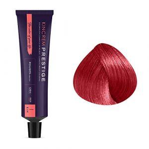 Kin Cosmetics Coloration permanente enrichie à la kératine 7.66 - Rouge Griotte, 60ml