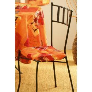 L'Harmonie du Décor Galette de chaise 4 rabats Afrika (36 x 36 cm)