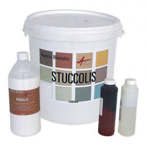 Arcane industries Kit stuc venitien enduit stucco spatulable décoratif, kit jusqu'à 7m² - GRIS SOIE