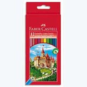 Faber-Castell Etui de 12 crayons de couleur (motif Chateau)
