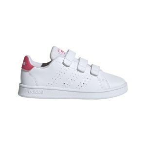 Adidas Advantage C, Chaussures de Tennis Mixte Enfant, Blanc Rosrea/FTW Bla 000, 32 EU