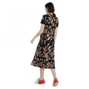 Desigual Robe longue à imprimé ornemental Multicolore - Taille 40