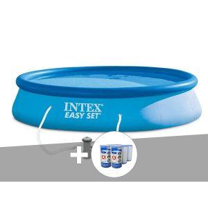 Intex Kit piscine autoportée Easy Set 3,96 x 0,84 m + 6 cartouches