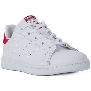 Adidas Stan Smith - Chaussures - Mixte Enfant - Blanc (Footwear White/Footwear White/Bold Pink 0) - 35 EU