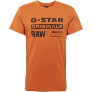 G-Star Raw RAW Graphic 8 Round Neck T-Shirt, Marron (Aged Almond A493), Small Homme