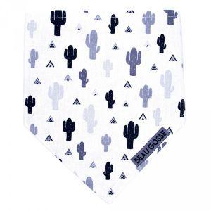 Bulle de BB Bavoir bandana beau gosse cactus noir et blanc