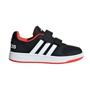 Adidas Vs Hoops 2.0 Noir Blanc Junior B75960 - EU 31