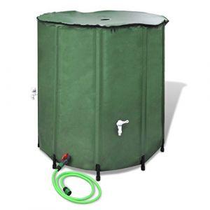 VidaXL Récupérateur d'eau pluviale Pliable 500L Récupérateur Eau de Pluie