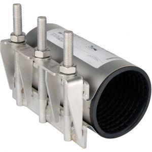 sferaco Collier de réparation pour tube rigide Pe-Pvc-Acier-Fonte Ø126/138