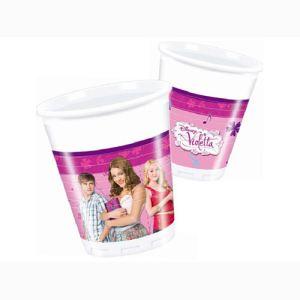 6 gobelets Violetta en plastique