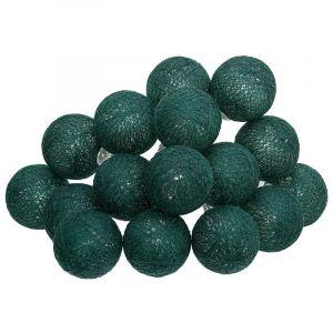 Atmosphera Guirlande décorative lumineuse Vert cèdre 16 boules LED D 3.5 cm et L 261 cm