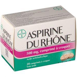 Bayer Aspirine du Rhône 500 mg - 20 Comprimés à croquer