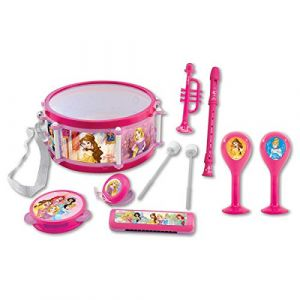 Lexibook Princess Princesse Disney Cendrillon, Belle, Jouet Musical, Set de 7 Instruments de Musique, Jeu Pratique à Transporter, Rose/Violet, K360DP