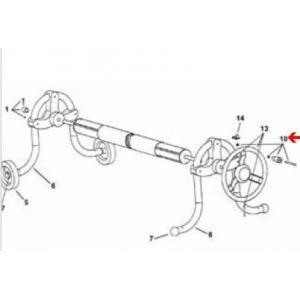 Procopi 1861065 - Poignée complète pour volant d'enrouleur de bâche de pisicne Delta