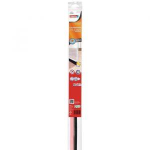 Tesa Joint bas de porte adhésif - Spécial moquette - 1 m x 40 mm x 15 mm - Transparent
