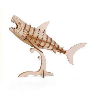 Kikkerland Puzzle 3D en bois Requin