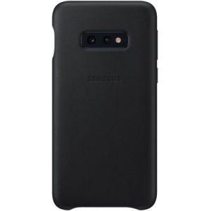 Samsung Coque S10E Cuir noir