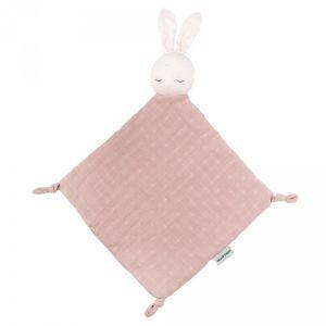 Nattou Doudou lapin Pure Cotton doudou, rose